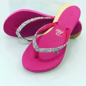 fe308b244ce786 Rio Custom New Women s Flip Flops Crystal Pink